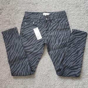 NWT Molly Bracken Zebra Jeans